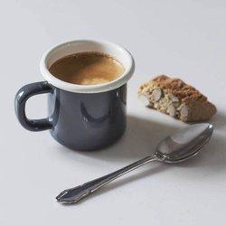 Charcoal Enamel Espresso Mug