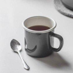 Charcoal Enamel Mug