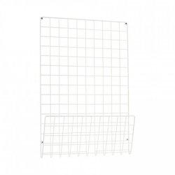 White Steel Mesh Notice Board