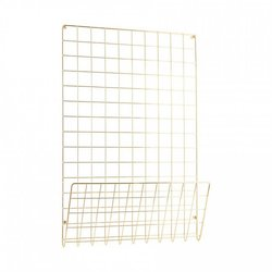 Gold Steel Mesh Notice Board