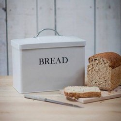 Bread Bin With Lid (Off White)