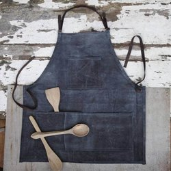 Handmade Rustic Artisan Canvas Apron - Full Length