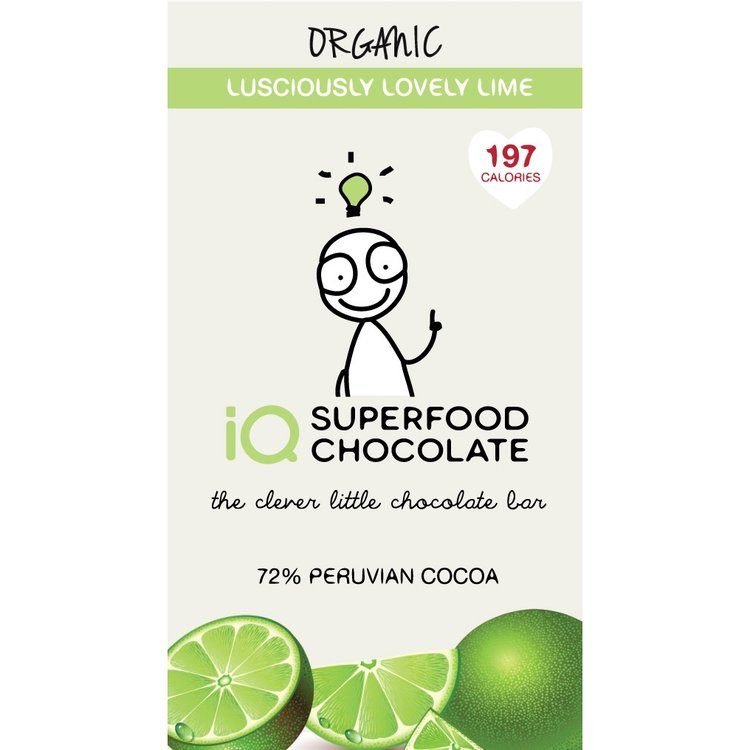 Organic Raw Chocolate with Lime Bar 35g