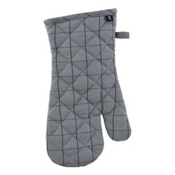 Grey Checked Oven Gloves
