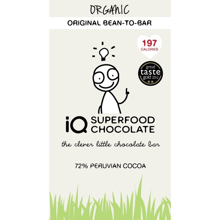 Organic Original Cocoa Bean To Bar Chocolate Bar 35g