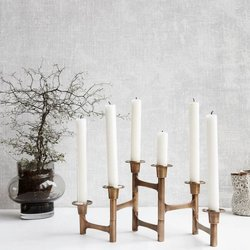 Brass Candle Stand Holder For Six Holders