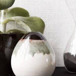 Mocha Egg Vase Handmade