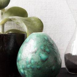 Turquoise Egg Vase Handmade