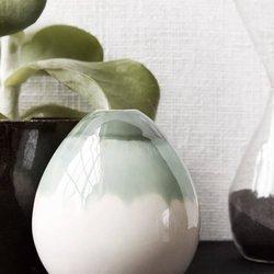 Sage Egg Vase Handmade