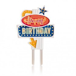 Flashing Light 'Happy Birthday' Cake Topper
