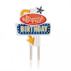 Flashing Light 'Happy Birthday' Cake Topper