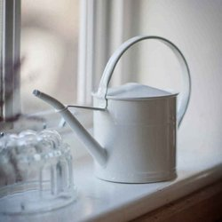 Steel Coated Watering Can - Chalk Coloured