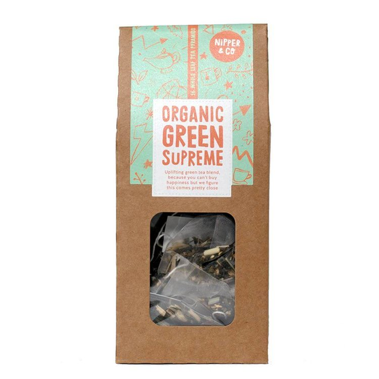 Organic 'Green Supreme' Vietnamese Green Tea with Yerba Mate & Siberian Ginseng 16 Tea Bags