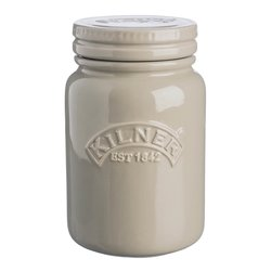 Pebble Grey Kilner Push Top Ceramic Storage Jar