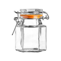 Kilner Hexagonal Clip Top Glass Spice Storage Jar 90ml