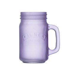 Kilner Purple Frosted Glass Handled Jar 400ml