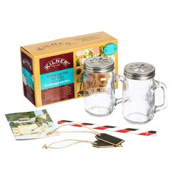 Kilner Glass Drinking Gift Set For Two Inc. Reusable Straws, Chalk Tags & Recipe Booklet
