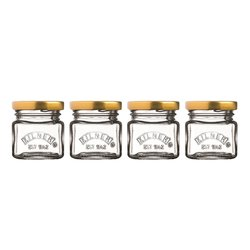 4 Kilner Glass Mini Shot Glass Jars with Lids (4 x 55ml Capacity)