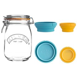 Kilner Measure & Glass Storage Jar Set 1 Litre