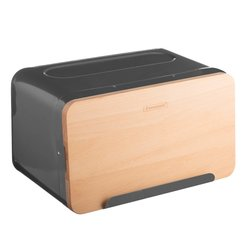 Typhoon Hudson Grey Bread Storage Box With Chopping Board Wooden Lid