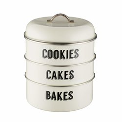 Typhoon Retro Cream Stacking Storage Tins