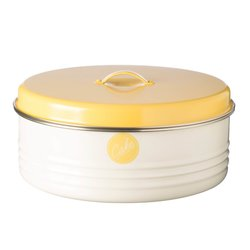 Mason Cash Vintage Americana Cake Storage Tin with Yellow Lid