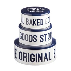 Mason Cash Varsity Set Of 3 Retro Cake Storage Tins