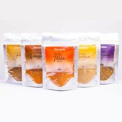 Set of Indian Curry Spice Mixes - Tikka, Vindaloo, Korma, Jeera & Biryani Blends (5 x 15g)