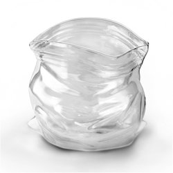 'Unzipped' Zipper Bag Glass Storage Jar