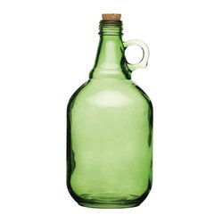 4 Assorted Colour Traditional Glass Demijohns Homemade (4 x 1.9 Litres Capacity)