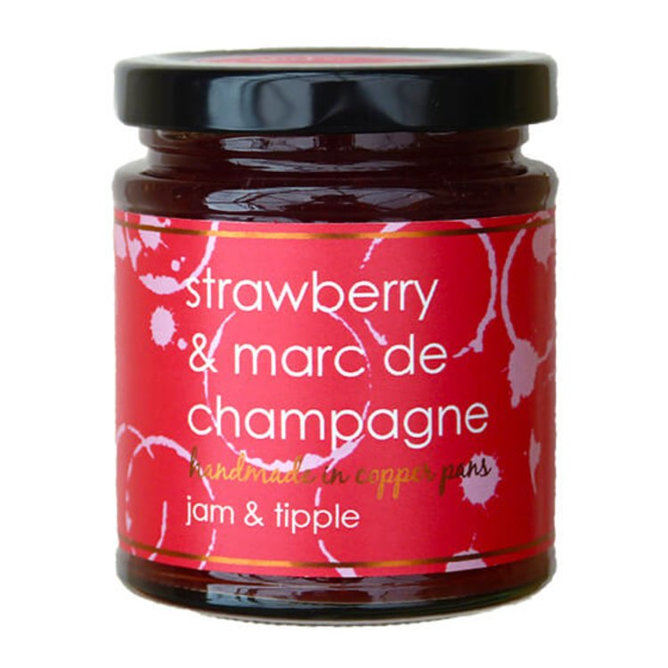 Strawberry & Marc de Champagne Jam 227g (For Pastries & Afternoon Tea)
