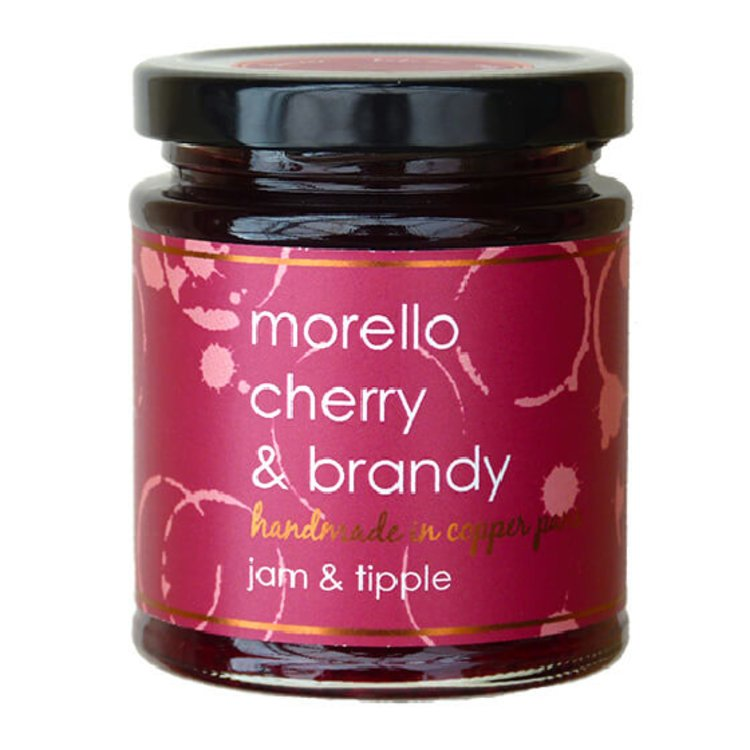 Morello Cherry & Brandy Jam 227g (For Pastries, Ham & Charcuterie)