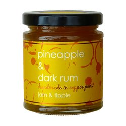 Pineapple & Jamaican Dark Rum Jam 227g (For Pastries,Yoghurt, Meats & Barbecues)