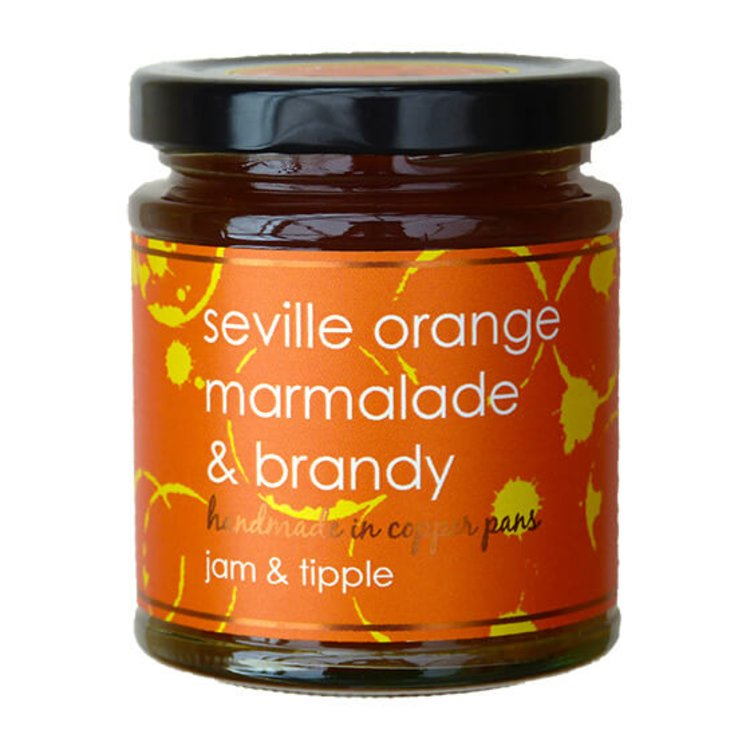 Seville Orange Marmalade & Brandy Jam 227g (For Breakfasts & Desserts)