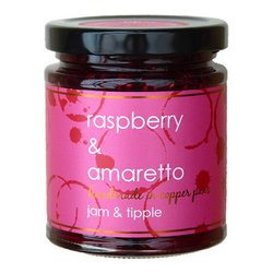 Raspberry & Italian Amaretto Jam 227g (For Breakfasts, Cranachan & Desserts)
