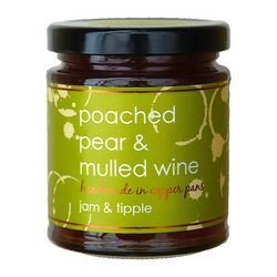 Poached Pear & Mulled Wine Jam 227g (For Breakfasts, Cheese & Desserts)