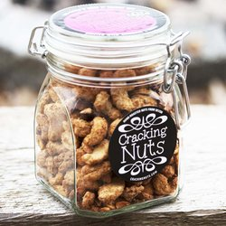Cinnamon & Vanilla Roasted Cashews in Clip Jar 350g