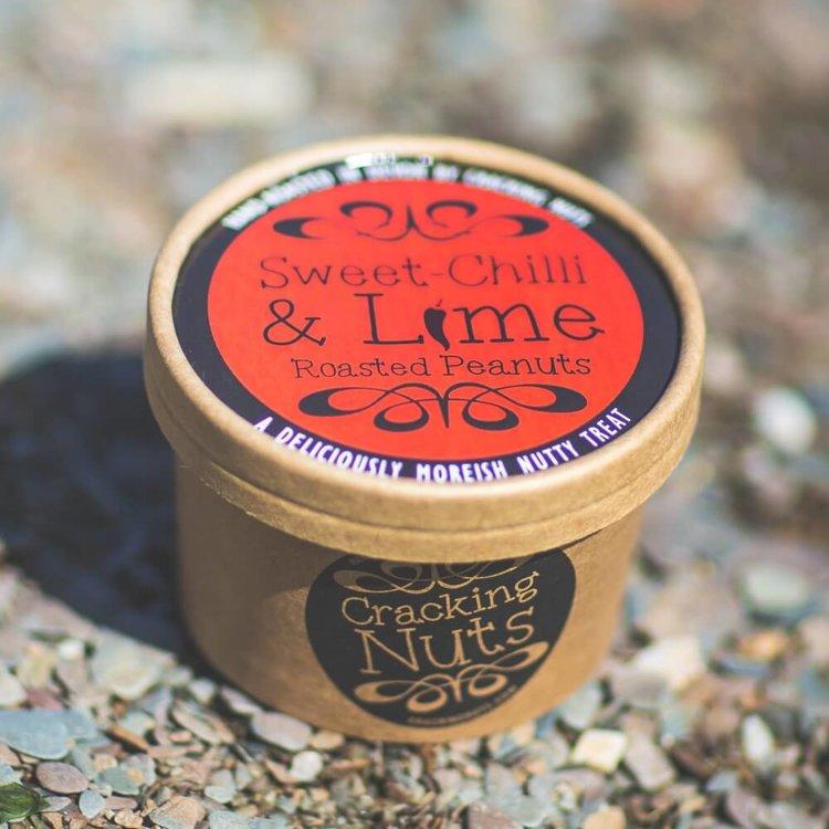 Sweet Chilli & Lime Roasted Jumbo Peanuts Tub 100g