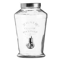 Kilner Glass Cocktail or Infused Water Tabletop Drinks Dispenser 6 Litre