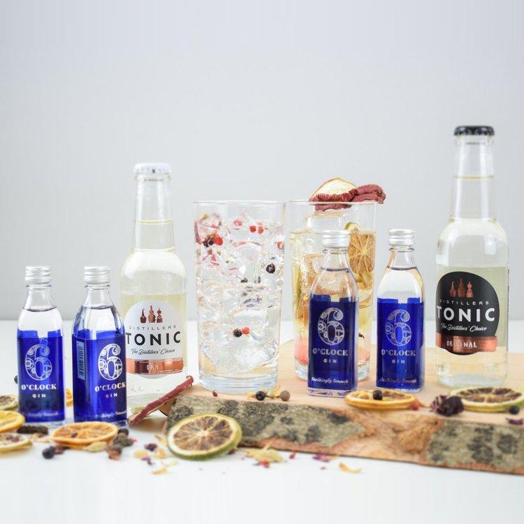 6 O'clock English Gin & Tonic Gift Set (Makes 8 Gin & Tonics)