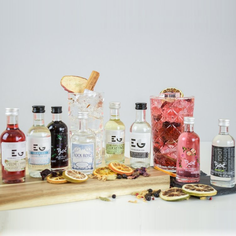 Small Batch Scottish Gin & Tonic Gift Set Inc. Rock Rose, Boe & Edinburgh Gins