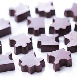Orange Chocolate Puzzle Pieces