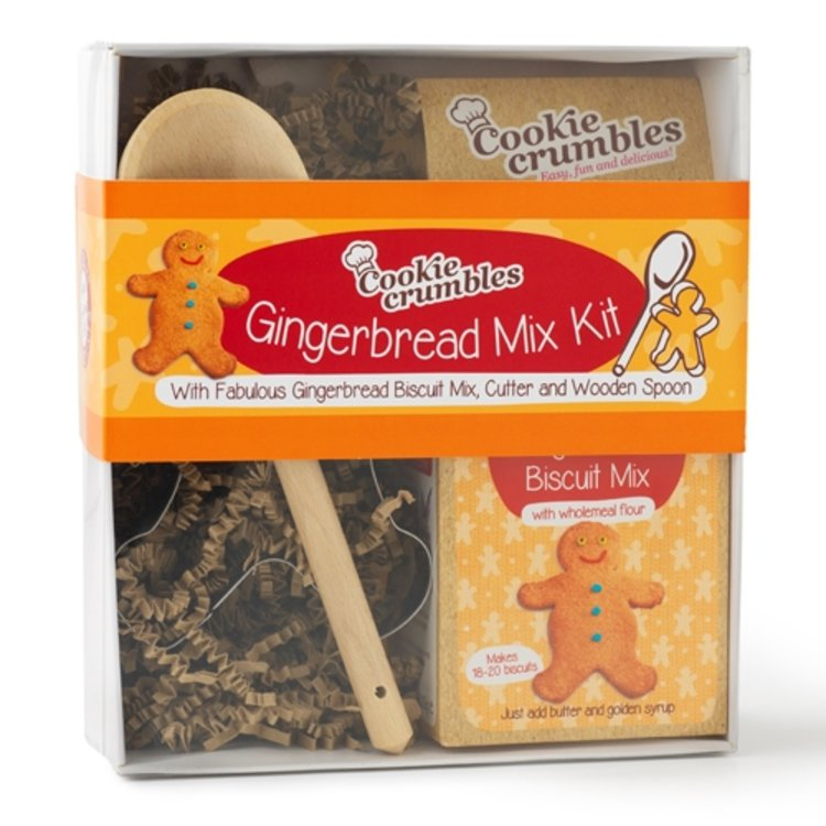 Gingerbread Wholemeal Biscuit Baking Mix Gift Box with Cutter & Wooden Spoon