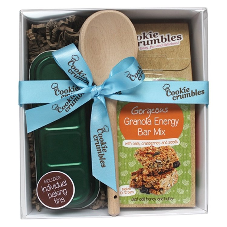 'Gorgeous Granola' Energy Bar Baking Gift Set with Wooden Spoon