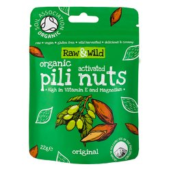 22g Raw Original Activated Pili Nuts Snack Pack Pouch
