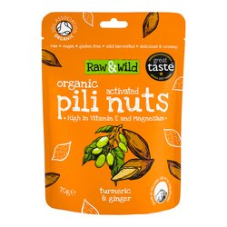 70g Turmeric & Ginger Raw Activated Pili Nuts Snack Pouch
