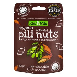 22g Chocolate & Coconut Raw Activated Pili Nuts Snack Pack Pouch