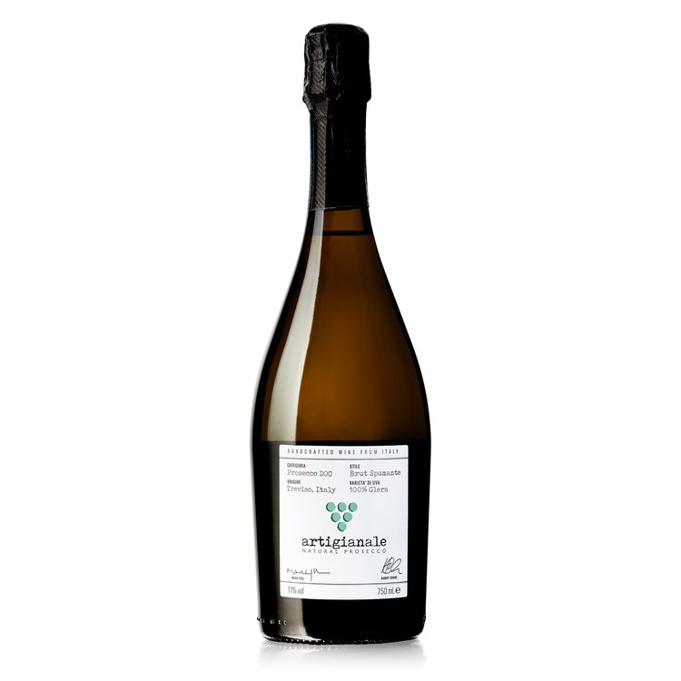 Handcrafted 'Artigianale' Natural Vegan Prosecco Wine DOC 75cl