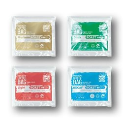 Organic Instant Ground Coffee Bag Sampling Set Inc. Light, Medium, Dark & Caffeine-Free Coffee