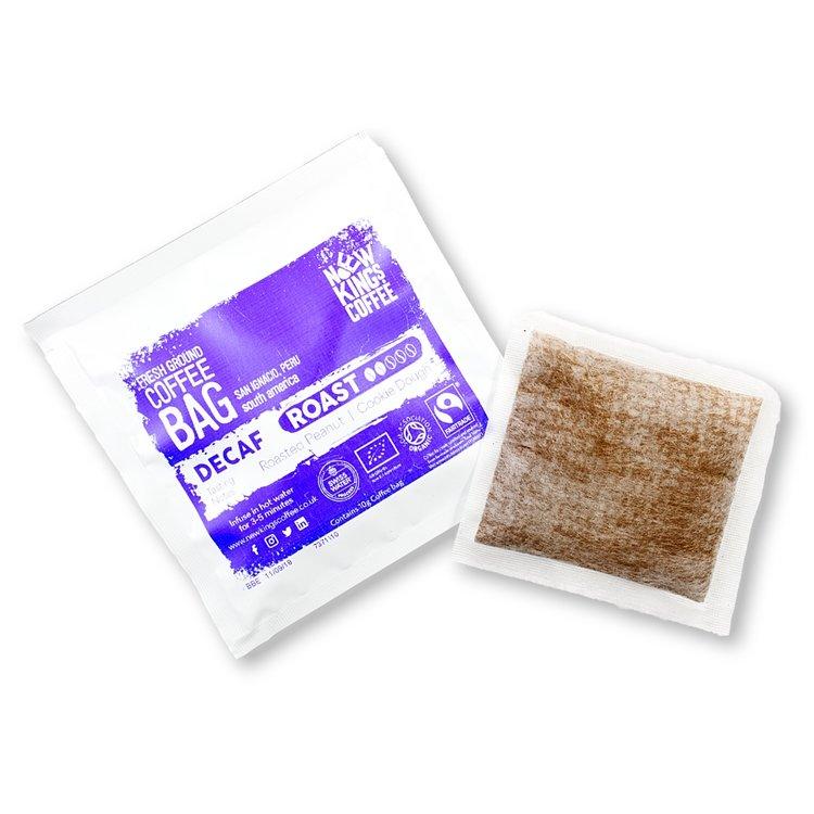 30 Bags Organic Caffeine-Free Peruvian Instant Ground Coffee (30 Coffee Bags)